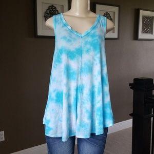 Calvin Klein Shirt Tie-Dye Tank Top LARGE